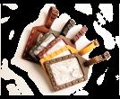 Rustic Hand Sewn Luggage Tag