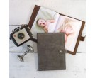 Small Photo Albums with Refillable Leather Cover