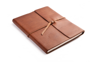 Rustic Writers Book - Saddle Leather - Blue Sky Papers