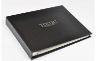 Custom Corporate Guest Book- Horizontal 3-ring style with custom logo in Silver- by Blue Sky Papers