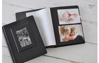 Black Page Frame Front Photo Album