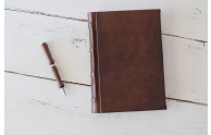 Italian Leather Bound Journal from Blue Sky Papers