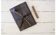 Leather Rustic Sketchbook - perfect size for desks, backpacks, and on-the-go adventures