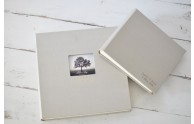 Classic, Archival Photo Album- 12x12 and 9x7 shown in Champagne silk- by Blue Sky Papers