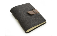 "Rustic Wool Writing Journal - ""The Parley"" - Buckle Closure"