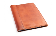 Rustic Composition Book Cover - Machine Sewn - Saddle Leather