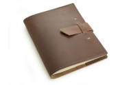 Switchback Writing Journal - Dark Brown Leather