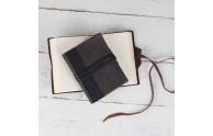Two-Tone Leather Handcrafted Journal - interior view - from Blue Sky Papers