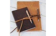 Leather Nature Journal - soft, two-tone earthen leathers - by Blue Sky Papers