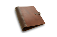 Rustic Leather 3 Ring Binder