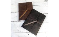 Leather Rustic Journals - Rustic Brown Leather & Almost Black Leather - by Blue Sky Papers