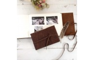 Leather Artisan Book - as photo album, photo guest book, traditional guest book, artists sketchbook - by Blue Sky Papers