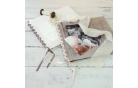 Velvet Ribbon-Laced Album- Use as a photo album, boudoir book, or memory book- by Blue Sky Papers
