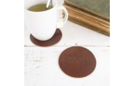 Natural Leather Coasters - Emboss with your logo - by Blue Sky Papers