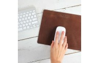 Leather Mouse Pad - Personalize with a name or title - by Blue Sky Papers