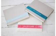 Personalized Velvet Ribbon Book- Multiple colors and styles- by Blue Sky Papers