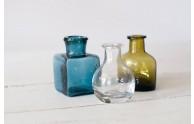 Glass Inkwell Trio