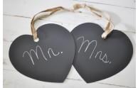 Hanging Heart Chalkboard