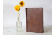 Italian Leather Large Sketchbook from Blue Sky Papers- Over a foot tall!