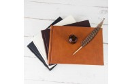 Italian Leather Guest Book - from Blue Sky Papers