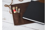 Leather Bound Sketchbook Case - comes with hardbound sketchbook - handmade by Blue Sky Papers