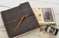 Leather Rustic Album - Rustic Brown Leather- by Blue Sky Papers