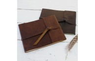 Leather Rustic Guest Books - Blue Sky Papers