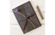 Leather Rustic Sketchbook in Rustic Brown leather - by Blue Sky Papers