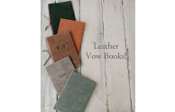 Leather Vow Books - Many options! - Blue Sky Papers