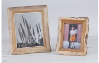 Redwood Recycled Picture Frames - light wood detail - 8x10 and 5x7 - by Blue Sky Papers