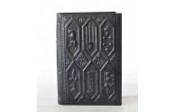 Navy Leather Coat of Arms Journal - Deep Embossed Heraldic Design