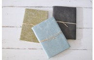 Leather Oblation Journal - Vat-drawn Recyled Cotton Pages