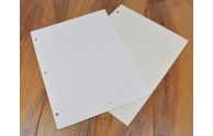 Page Refills for 3 Ring Books - Shown: White Vertical with lines, Ivory Vertical blank pages