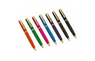 Leather Ballpoint Pens - Orange, Green, Pink, Blue, Purple, Mocha