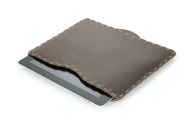 Rustic Hand Sewn iPad Sleeve - Dark Brown