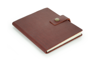 "Rustic Leather Notebook - ""The Ranger"" - Burgundy"