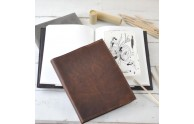 Refillable Sketchbook Leather Cover - perfect gift for the artist - from Blue Sky Papers