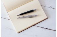 Retro 1951's Tornado Rollerball Pens - Black and Stainless Steel