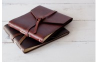 Rustic Leather Guest Books with Wrap cover