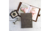 Small Photo Albums - refillable leather cover - by Blue Sky Papers