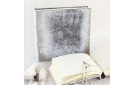 Velvet Wedding Photo Album- Gray velvet, 12x12 inches - by Blue Sky Papers