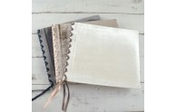 Velvet Ribbon-Laced Album- white velvet on top - by Blue Sky Papers