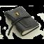 Rustic Leather Golf Log w/ Pocket - Black