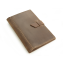 Rustic Leather Pad Portfolio - Dark Brown Leather - Small