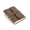 "Rustic Writing Journal - ""The Good Book"" - Dark Brown Wrap Closure"