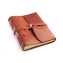 "Rustic Writing Journal - ""The Good Book"" - Saddle - Wrap Closure"