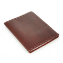 Rustic Composition Book Cover - Hand Sewn - Burgundy Leather