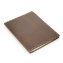 Rustic Composition Book Cover - Hand Sewn- Dark Brown Leather