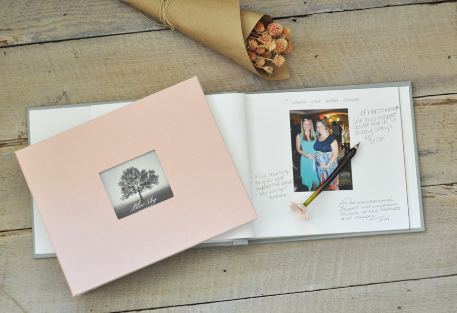 baby shower keepsake book an archival memory book by blue sky