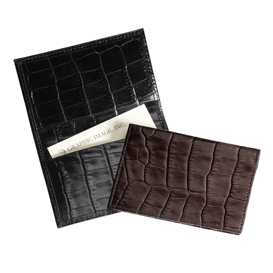 Geniune Leather Bi-fold Card Holders from Blue Sky Papers